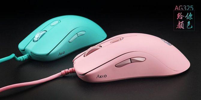 掌握色彩!Akko推出AG325粉色 Tiffany蓝游戏鼠标