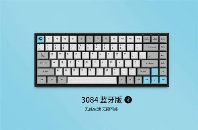 便携办公!Akko推出3084 3068蓝牙无线机械键盘