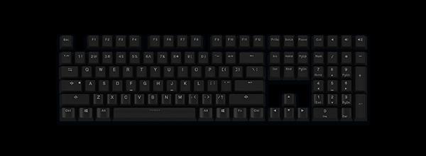 PBT二色透光键帽(黑色)