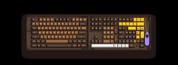 Akko Chocolate巧克力 PBT二色键帽(ASA球帽)