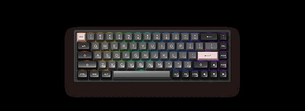 Akko 3068B三模 – Black&Pink黑粉